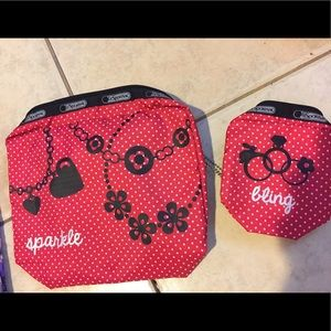 NWOT Lesportsac pouch set